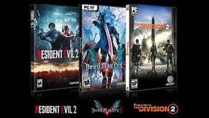 Division 2/Resident Evil 2/Devil May Cry 5 combo deal