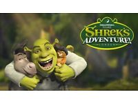 2 x ADULT TICKETS FOR SHREK'S ADVENTURE - MUST VISIT BY 19/03/18 JUST £15 FOR BOTH !!! RRP £55