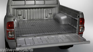 TOYOTA-HILUX-UTE-MAT-RUBBER-DUAL-SINGLE-EXTRA-CAB-SR-SR5-BLACK-UTILITY-GENUINE