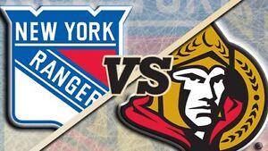 Game 2 Ottawa senators  vs New York rangers