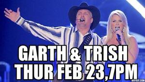 GREAT TICKETS ★★Garth Brooks & Trisha Yearwood ★★THUR Feb 23