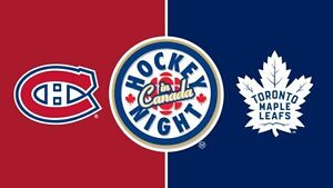 LEAFS VS HABS 2 tickets