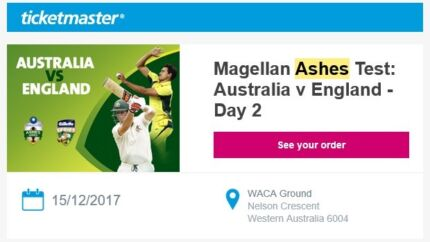 Day 2 - Ashes WACA Perth Australia v England