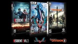The Division 2, Resident Evil 5, Devil May Cry 5 for $50 each!