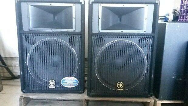 Yamaha S115V Club Series V Speaker Cabinet Pair