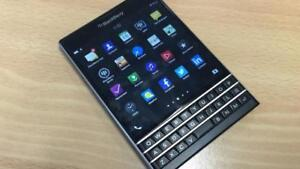Blackberry Passport that's set up to run Android Apps easily