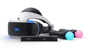 Full Playstation VR Bundle w/ Move Controllers, Camera, Game