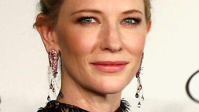 Cate Blanchett shrimp earrings Image via smh.com.au