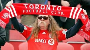 If the ad is posted Tickets are still avail 905-441-6657 Toronto FC Tickets TFC Tickets sec 104 up to 10 seats in a row