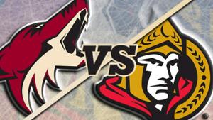 Pheonix Coyote vs Ottawa Senators jan.22nd 19h30