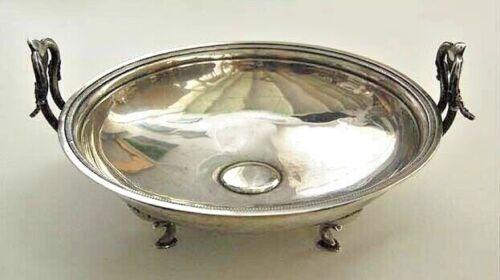 c1890, Large Antique SOLID SILVER ROMANESQUE Centerpiece / Bowl           (3V11)