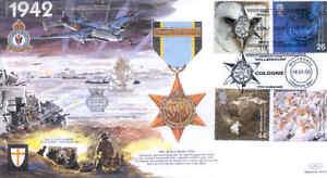 JSMIL13-1942-WWII-Air-Crew-Europe-Star-Medal-RAF-2000-Millennium-FDC