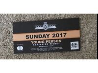 1 X Goodwood FOS Sunday Ticket- young person (21 and under)