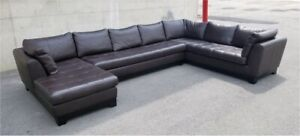 Top Grain Leather Sectional Sofa​