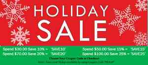 **Save up to 25% on everything ONLINE Christmas and More** Strathcona County Edmonton Area image 1