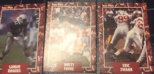 3 1991 Star Picks Football Rookie Cards-E Swann B Favre L Rogers