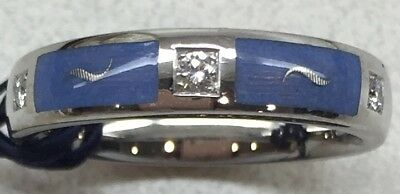 Faberge Limited Edition 18K White Gold Blue Enamel & Diamonds Ring #5/1000 *NEW* for sale  San Francisco