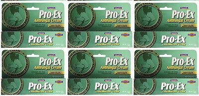 6 pk Pro-Ex Antifungal Cream Clotrimazole 1% 9 oz Natureplex Cure Jock Itch ()