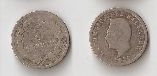 El Salvador 5 centavos 1920