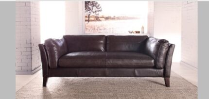 Braiden Leather 2.5 Seat sofa - New Eumemmerring Casey Area Preview