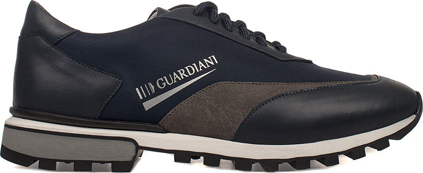 SCARPE GUARDIANI SU76462B / AW7888 UOMO PELLE SNEAKERS BLUE DARK ORIGINALI NEW
