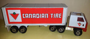 "VINTAGE TONKA ""CANADIAN TIRE"" TRUCK & TRAILER (1979)"