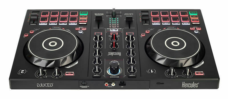 Hercules DJ Control INPULSE 300 USB 2 Channel DJ Controller RGB Pads Software