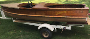 1957 Lakefield Cedar Strip boat