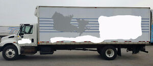 International 4400 straight truck air ride with tail gate