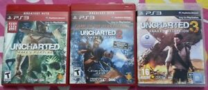 Uncharted 1,2,3 PS3 2 are sealed