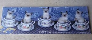"""CATPUCCINO"" 5 CATS IN COFFEE MUG PRINT London Ontario image 2"