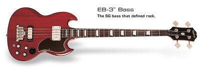 Epiphone EB-3 Bajo ( 2P / U) Cherry Ch Hdwe Bajo Eléctrico...
