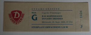 Ticket for collectors CWC Dynamo Dresden - B 1893 Copenhagen DDR Denmark 1982 - Internet, Polska - Ticket for collectors CWC Dynamo Dresden - B 1893 Copenhagen DDR Denmark 1982 - Internet, Polska