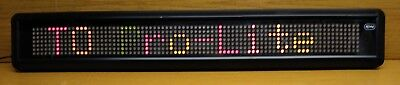 Pro Lite. Led Display Sign. Multi Color. With Movement Effects. Approx. 3 X 4