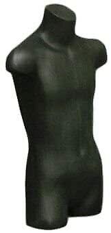 Child Torso Dress Form Mannequin Display Bust Black 5033