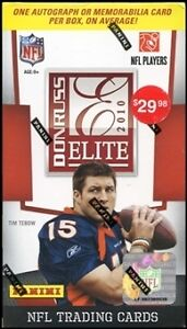 2010 DONRUSS ELITE FOOTBALL HOBBY BOX-1 AUTO-MEMORABILIA 5 Packs