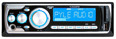 New Pyle PLR24MPM AM/FM MP3 Car In Dash Receiver USB/SD/AUX Audio Stereo 240W on Rummage