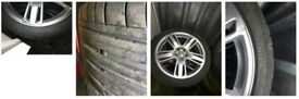 4xAlloys R19 for A6, Q5 with tyres 6mm Dunlop 245/40 R19