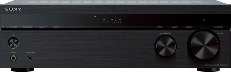 Sony - 2.0-Ch. Stereo Receiver with Bluetooth - Black