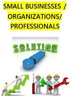 SOLUTIONS TO SMALL BUSINESS/ORGANIZATIONS/PROFESSIONALS