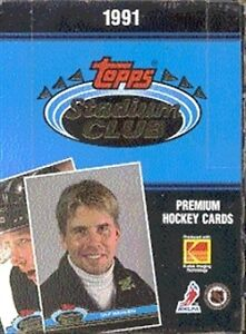 1991-92 TOPPS STADIUM CLUB ... hockey cards .. INAUGURAL EDITION