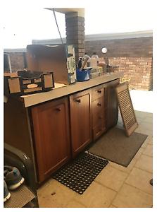 Work Bench plus Timber doors/ louvre doors ballustrade and pelmet