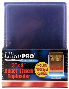 """Ultra Pro 3""""x4"""" 180pt Trading Cards Toploaders 10 Count Pack"""