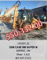 2008-2009 CASE 580 BACK HOES 11 UNITS AVAILABLE!!!