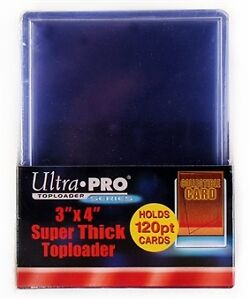 "Ultra Pro 3""x4"" 120pt Trading Card Toploaders 10 Count Pack Kitchener / Waterloo Kitchener Area image 1"