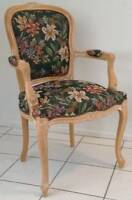 VINTAGE BAROQUE CHAIR AND TUB CHAIR