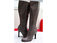 LK BENNETT High Heels Taupe Grey Boots size 6