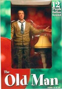 "A CHRISTMAS STORY 12"" Talking Old Man figure with Leg Lamp"
