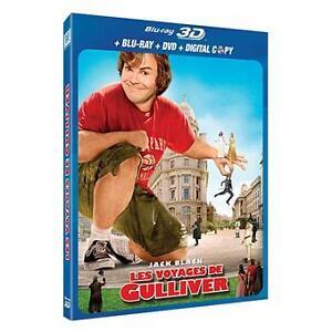 LES VOYAGES DE GULLIVER en combo BLURAY 3-D / DVD