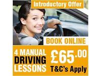 """GREAT OFFER ""FIRST 4 MANUAL DRIVING LESSONS ONLY £65.00 "" DRIVING SCHOOL IN EAST LONDON"""